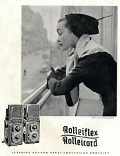 Vintage Rolleiflex Photo Camera Promotional Poster