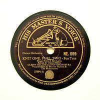 "GLENN MILLER ORCHESTRA ""Knit One, Purl Two"" 1942 (E+) INDIAN HMV NE-669 [78 RPM]"