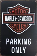 HARLEY DAVIDSON Garage Rustic Look Vintage Tin Signs Man Cave, Shed & Bar Sign