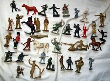 mixed lot vintage plastic toy soldiers cherilea lone star crescent and others