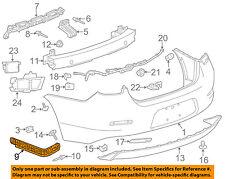 Chevrolet GM OEM 13-16 Malibu Rear Bumper-Outer Bracket Left 20809859