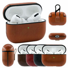 For Apple AirPods Pro Genuine Leather Wireless Charging Shockproof Case Cover