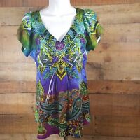 Apt. 9 Top Blouse Women's Multi Color Size Small  DH25