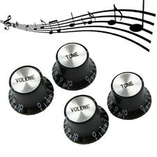 4 PCS Speed Knobs 2T2V Black LP SG Style Bell Top Hat Shape Hot Sales#VT68