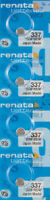 4 x Renata 337 Watch Batteries, SR416SW Battery | Shipped from USA