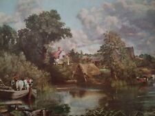THE WHITE HORSE John Constable A Scene on the River Stour Suffolk countryside
