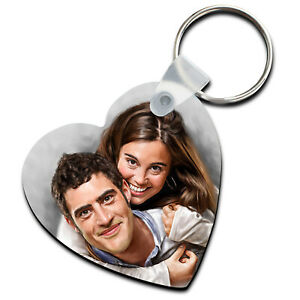 Personalised Photo Keyring Chain Christmas Xmas Gift For Mum Dad Family Friends