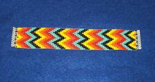 """Geometric Zig Zag Beaded Bracelet Magnetic clasp 7"""" L  x 1.25"""" wide"""
