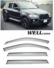 For 07-UP BMW X5 WellVisors Side Window Visors W/ Black Trim