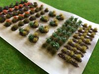 Allotment Crops Set 05 Late Season Flowers -Static Grass Tufts Model Scenery