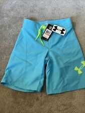 under armour swim trunks Blue Water Resistant Storm Loose boys Size 24 Msrp $35