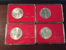 1964 Bank of Tokyo Japan Olympics Silver 1000 Yen Volcano Coin Hard Case Red