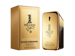 PACO RABANNE One Million 50ml EDT for Men Spray BRAND NEW Genuine Free Delivery