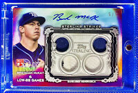 BRENDAN MCKAY 2020 TOPPS STERLING ROOKIE AUTO PATCH GAME-USED TAMPA BAY RAYS 5/5