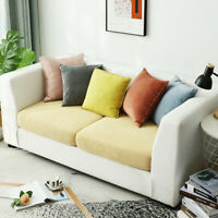 Sofa Cushion Slipcover Solid Color Stretch Furniture Protector Square Jacquard
