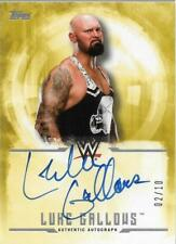2017 Topps WWE Undisputed Autographs Gold #UALG Luke Gallows Auto /10