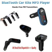 Wireless FM Transmitter MP3 Player Handsfree Car Kit USB TF SD Remote
