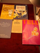 LOT OF 5 OLD VTG 1959-1965 BOOKLETS/MAGAZINES, GUIDEPOSTS, TELL, SBC BLUE BOOK++