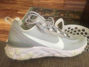 Nike React Element 55 Wolf Grey Ghost Aqua Shoes BQ2728-005 Women's 9.5