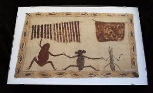 "Rare Amazon Jungle Ticuna Tribe Decorative Tapa Bark Cloth 10"" x 16'"