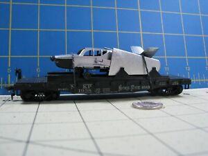 HO ATHEARN  NICKLE PLATE ROAD FLATCAR W/ CHROME AIRPLANE