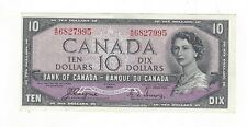 *1954 Devil's Face*Bank of Canada BC-32a, $10 Coy/Tow SN, A/D 6827995