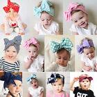 Cute Big Bow Cotton Toddler Baby Girls Headband Hair Band Headwear Accessories