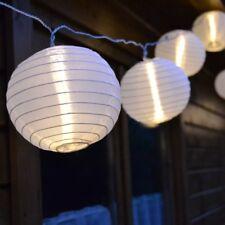 LED Lichterkette 7m mit 15 XXL Lampions Warmweiss