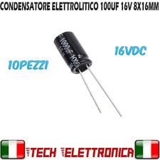 Condensatori elettrolitici THT 1000uF 16V DC Ø10x13mm 5Pz