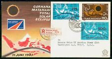 Indonesia 1983 Total Solar Eclipse First Day Cover kkm1905
