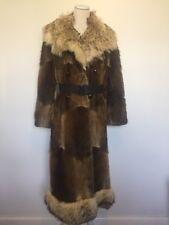Womens Vintage Fur Coat Furs by Wrubel & Kozin Birmingham, Mi 60s 70s Retro Long