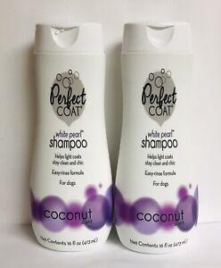 2 Bottles White Pearl ~ Coconut Shampoo for Dogs ~ Easy-rinse Formula 16 oz Ea.