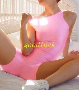 Women's Nylon/Lycra Dance Catsuit Workout Bodysuit ShortTank Unitard BIKETARD