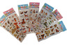 5x SHEETS KIDS 3D PUFFY REUSABLE SCRAP BOOK STICKERS ANIMALS CAT DOG HORSES DINO