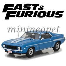 HIGHWAY 61 18001 FAST & FURIOUS BRIAN'S 1969 CHEVROLET CAMARO YENKO 1/18 BLUE