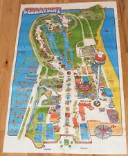 Vtg 1972-3 Used CEDAR POINT Amusement Park Poster Map 29-1/2