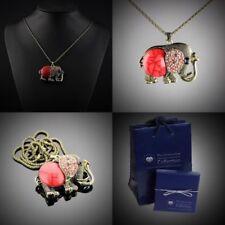 Elefanten Modeschmuck-Halsketten & -Anhänger mit Kristall für Damen