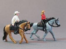 O Scale Horses & Riders 4 pcs from bulk package o ga train figure people LOT 2