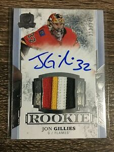 Jon Gillies 2017-18 The Cup Rookie Auto Patch 4 CLR #212/249 C'D #150