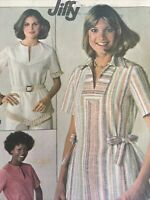 1977 Simplicity 7894 Vintage Sewing Pattern  Misses  Pullover Tops Size 12