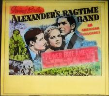 "Orig. Glass Slide ""Alexander's Ragtime Band"" - TYRONE POWER - ALICE FAYE  1938"