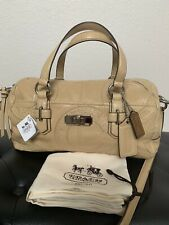 NWT COACH LEATHER CHELSEA INLAID PERFORATED SIGNATURE CONVERTIBLE SATCHEL 18207