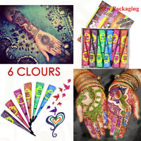 Multi-Colour Henna Paste Indian Imported Mehandi Paste Temporary Henna Cones TOP