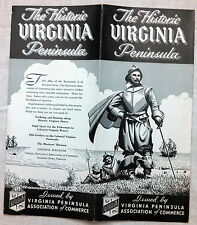 Virginia Peninsula brochure & map Norfolk, Portsmouth, Newport News, 1930's?  b