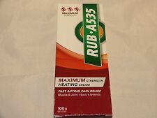 RUB A535 Maximum Strength Heating Cream For Relief of Muscle & Joint Pain 100 g