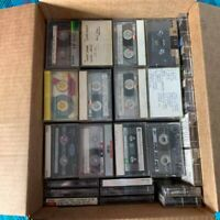 Lot 170 Cassette Tapes Pre-recorded Sold as Used Blanks -TDK MAXELL Others Blank