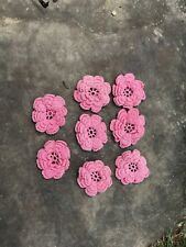 Vintage Handcrafted Triple Flowers Crochet ? Lot Small Shabby Pattern Pieces