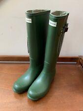 NIB - HUNTER Norris Field Side Adjustable Boot in Vintage Green - Women's Size 9