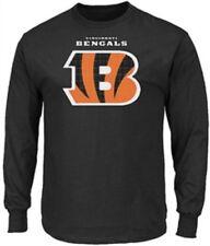 Cincinnati Bengals Adult Black Critical Victory 2 Majestic Long Sleeve T Shirt