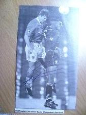 Original Hand Signed Press Cutting- DE ZEEUW, Dutch Footballer